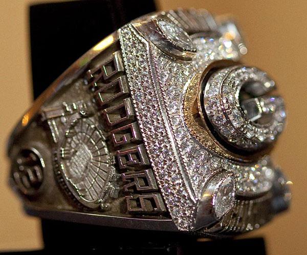 Green Bay Packers' Super Bowl XLV Diamond Champion Rings