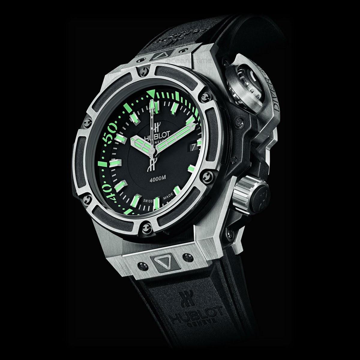 Hublot oceanographic 4000 diver watch with 4 000 meters - Oceanic dive watch ...