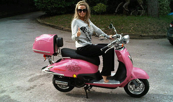 Katie Price's Pink Scooter