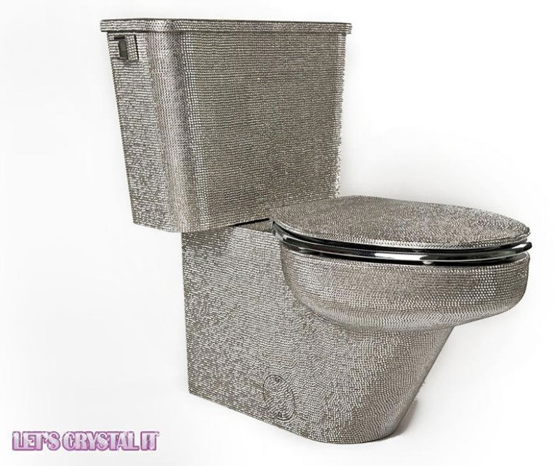 $25,000 Luxury Toilet Encrusted With Swarovski Crystals