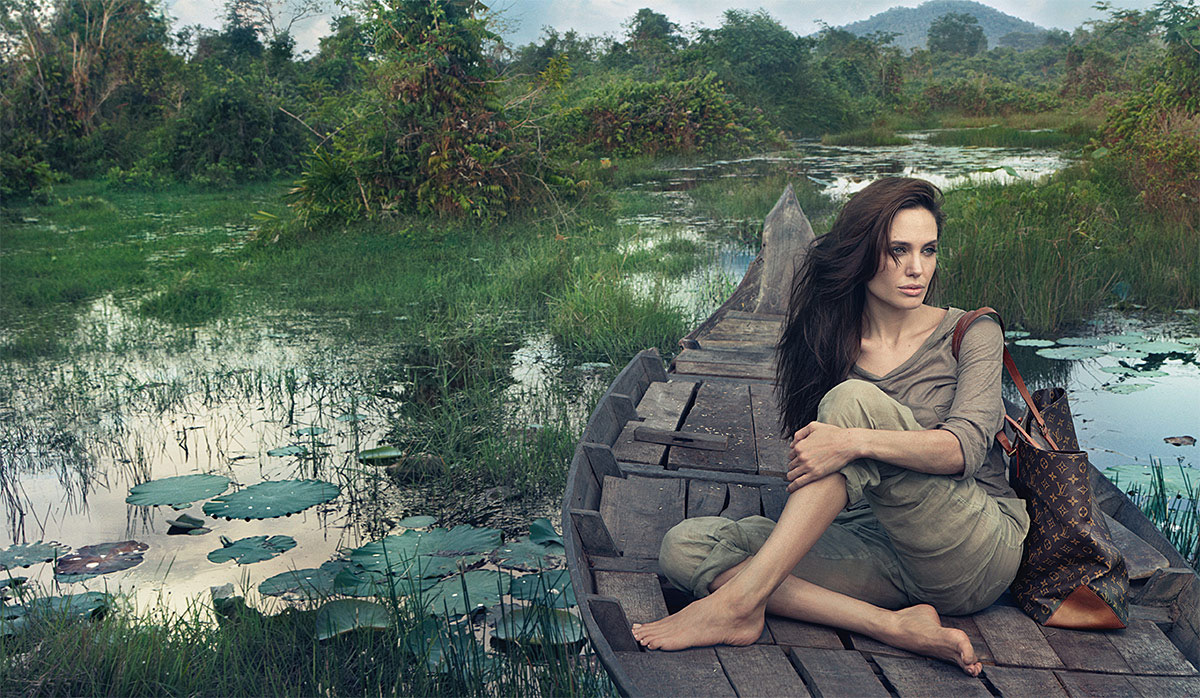 Angelina Jolie in Louis Vuitton's Core Values Campaign