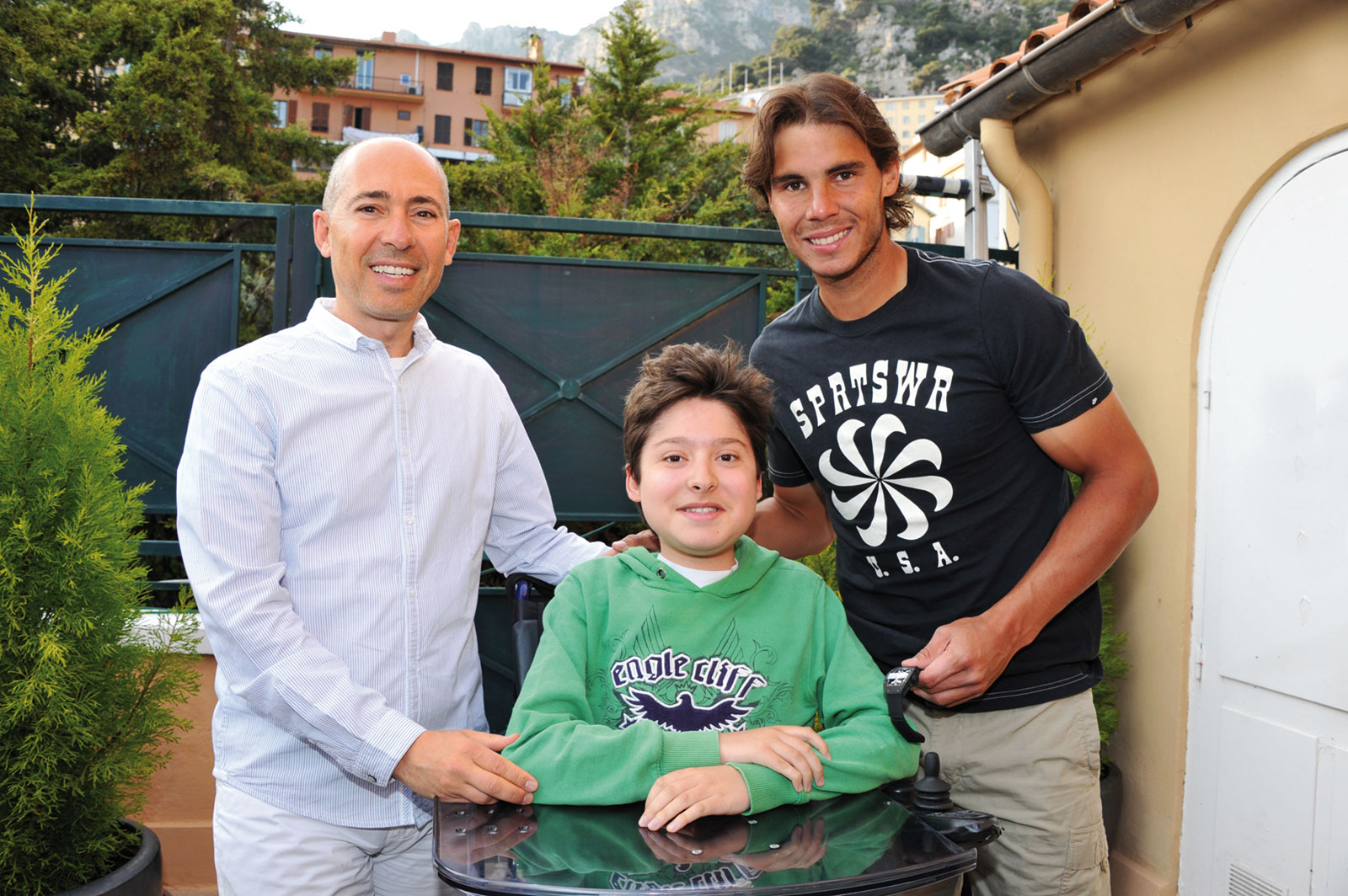 Luc Pettavino, Paul Pettavino and Rafael Nadal