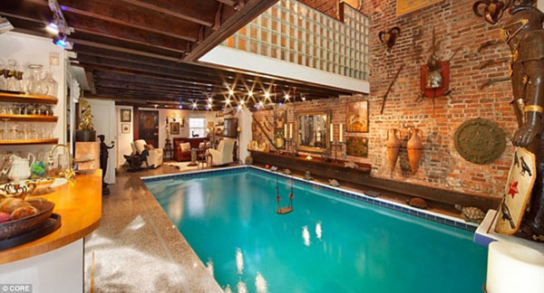 The $10million Manhattan mansion with a 30,000 gallon swimming pool in the living room
