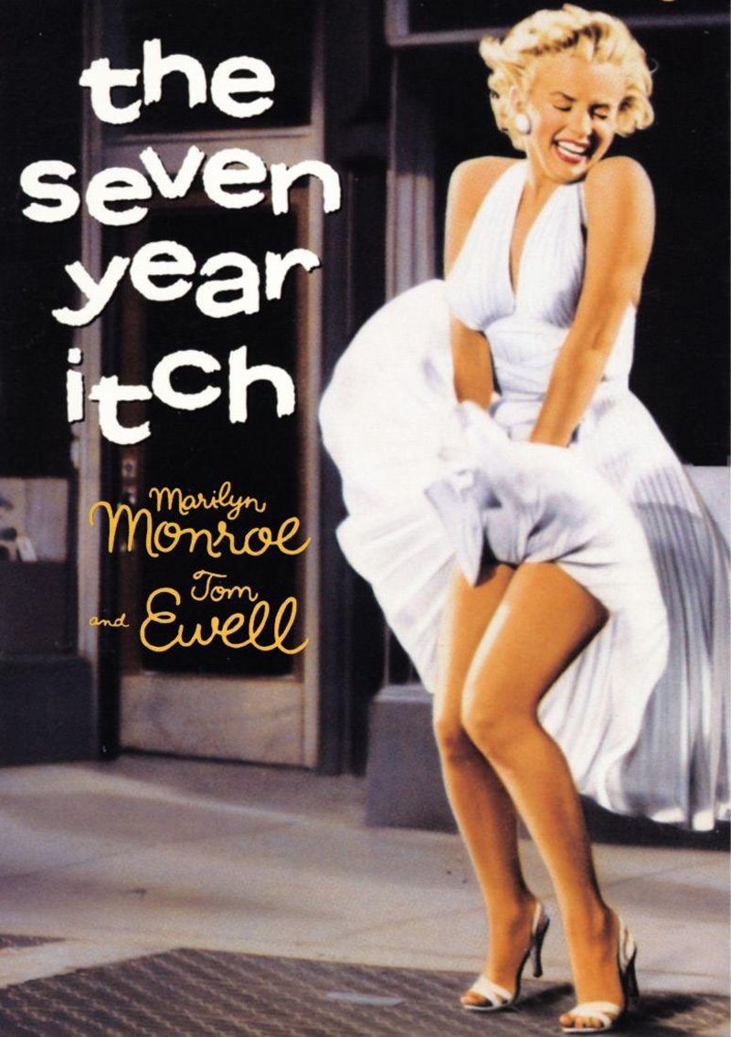 Marilyn Monroe wore Ivory Pleated 'Subway' Dress in 'The Seven Year Itch' Movie
