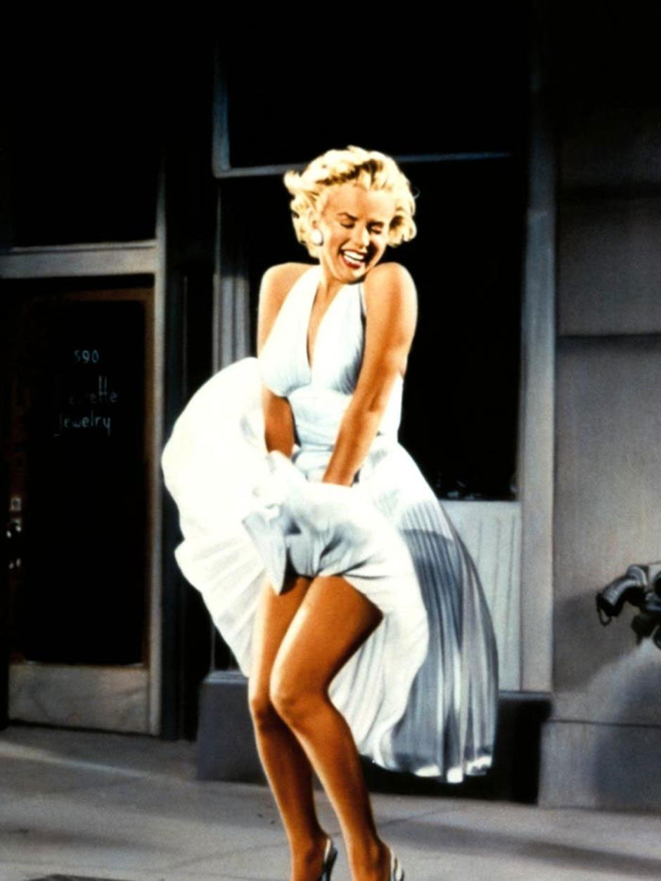 Marilyn Monroe's infamous subway dress that she wore in the Seven Year Itch movie