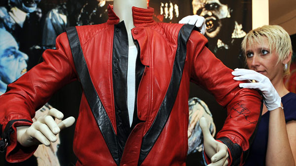 "Michael Jackson's ""Thriller"" jacket sold for $1.8 million at this weekend's Julien's auction in Beverly Hills, California"