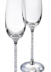 Swarovski Toasting Flutes For Sophisticated Connoisseurs