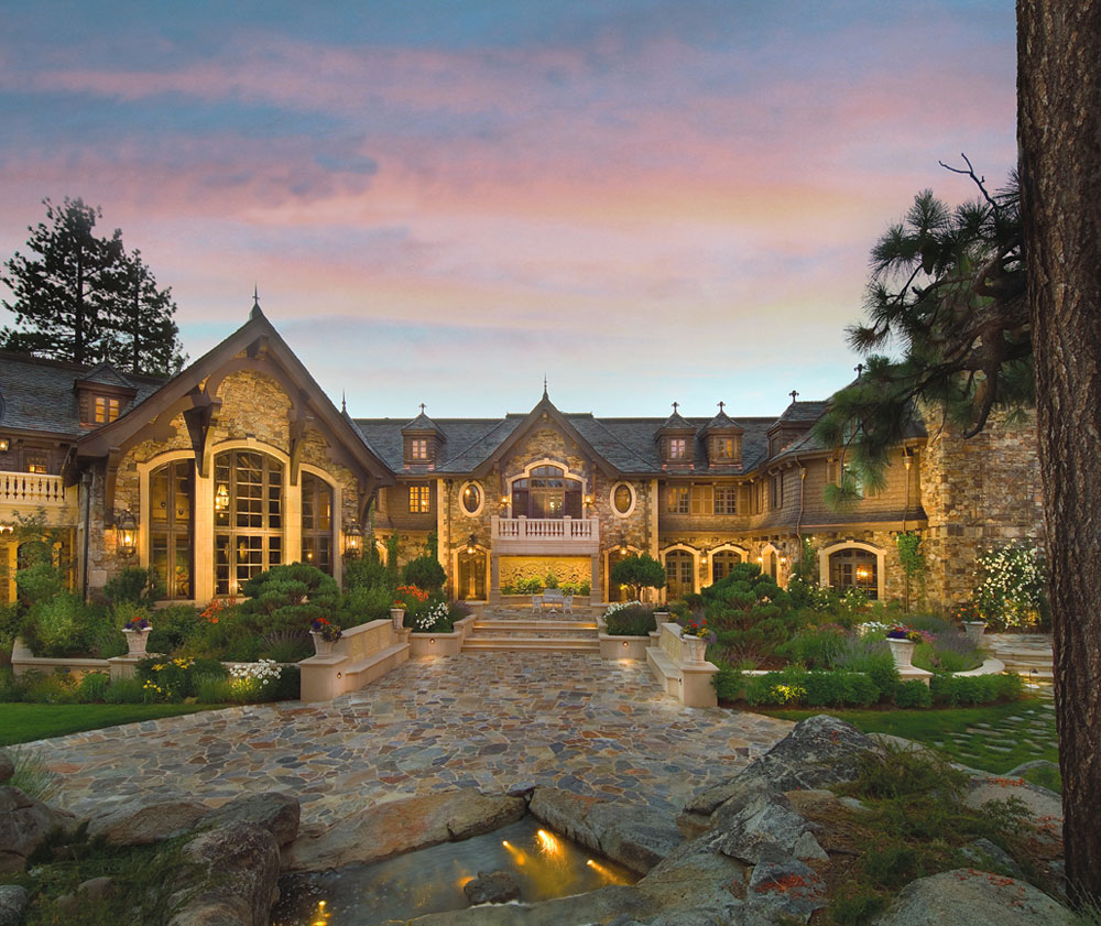 25 million price cut for tranquility lake tahoe mansion for Upscale homes
