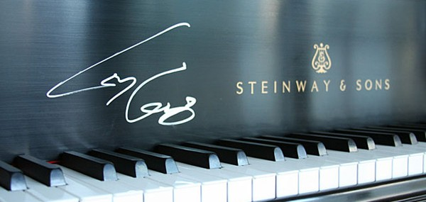 Lady Gaga Autographed Steinway Grand Piano