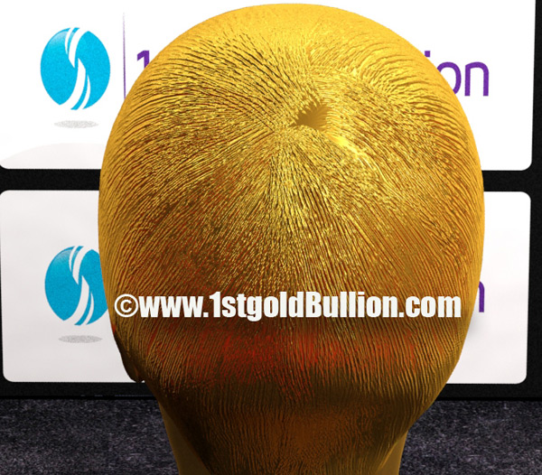 $1 Million Justin Bieber's Head Made of Gold