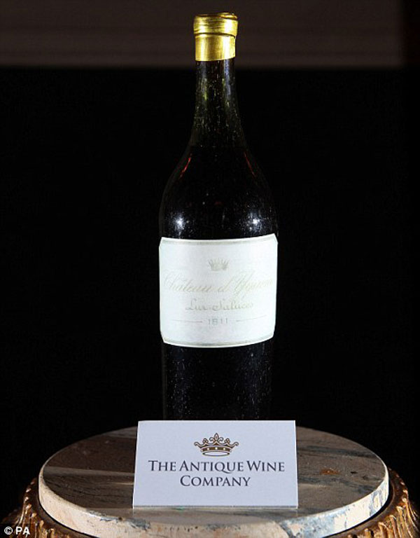 1811 Château d'Yquem - The World's Most Valuable Bottle of White Wine
