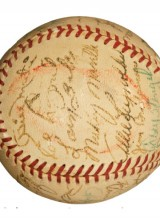 World`s Most Expensive Baseball Signed By Joe DiMaggio And Kissed By Marilyn Monroe