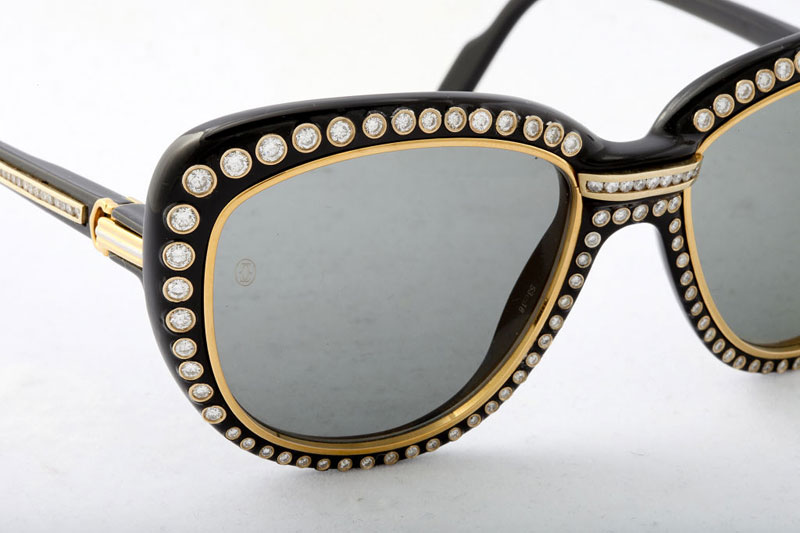 Glasses Frames With Diamonds : Cartier Gold and Diamond Sunglasses - eXtravaganzi