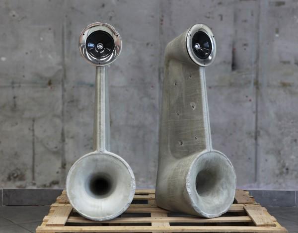 Concrete Speakers by Shmuel Linski