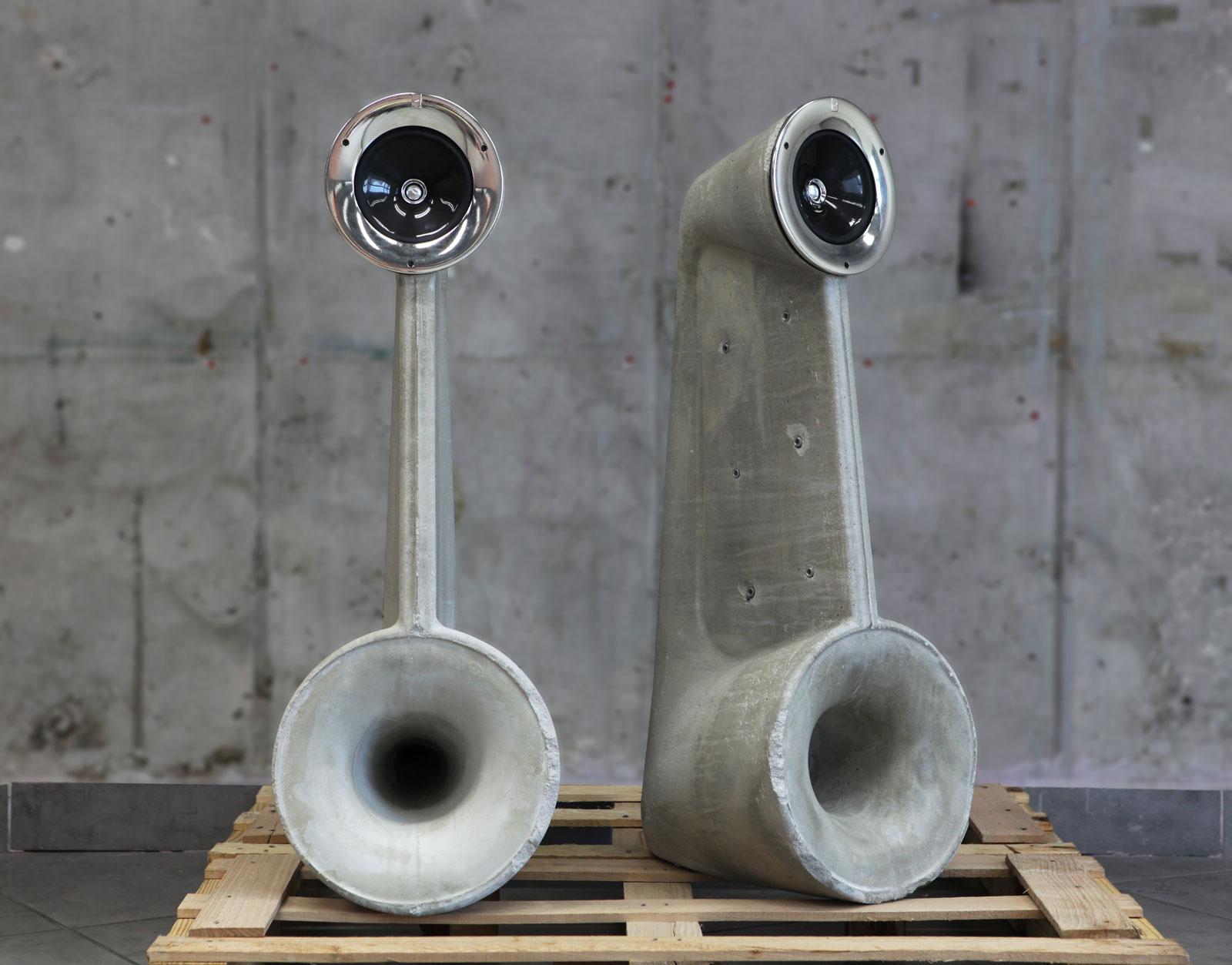 Solid Concrete Speakers By Shmuel Linski Extravaganzi