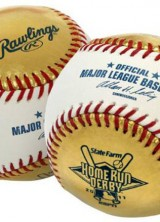 Gold Leather Ball For The State Farm Home Run Derby