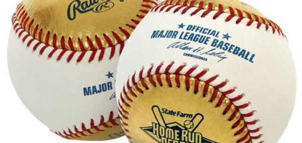 Gold Leather Official Baseball For 2011 State Farm Home Run