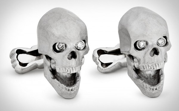 Ralph Lauren Purple Label Skull Cufflinks