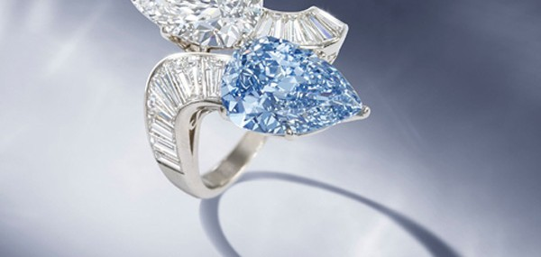 Rare Bvlgari Blue Diamond Ring at Bonhams Auction