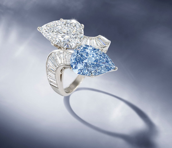 Rare Bvlgari Blue Diamond Ring Offered by Bonhams