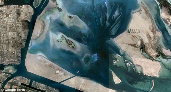 Sheikh Hamad Bin Hamdan Al Nahyan sand graffiti visible from space