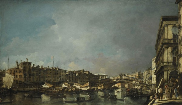 Francesco Guardi's Venice, a View of the Rialto Bridge, Looking North, from the Fondamenta del Carbon