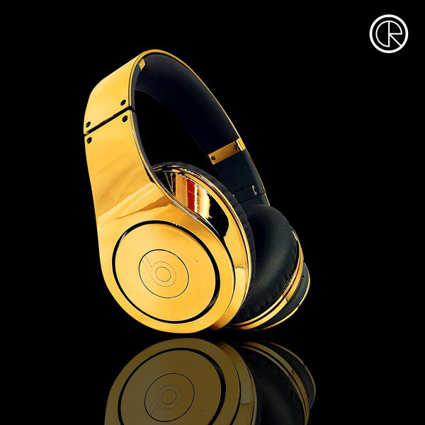 24ct Gold Plated Dr Dre Beats Studio Headphones By Crystal Rocked