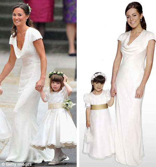 Completing the Royal Wedding inspired line is a flowe girl dress