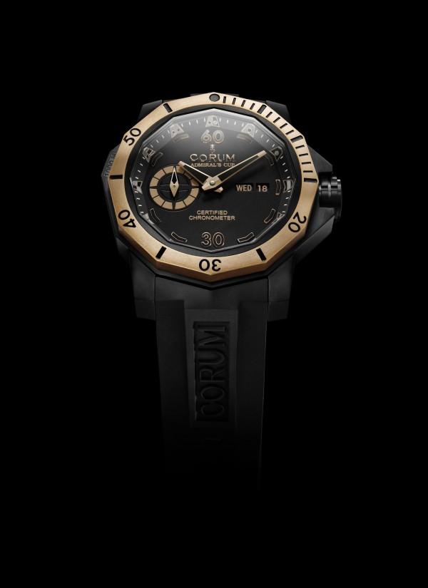 Corum Admiral Cup Seafender 48 Deep Dive in Black Titanium