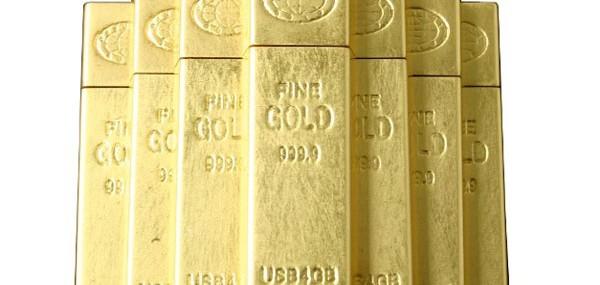 Gold Ingot USB Memory Drive