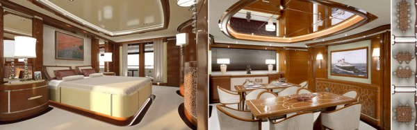 Italian luxury yacht Latitude