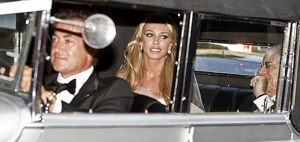 Petra and Bernie Ecclestone