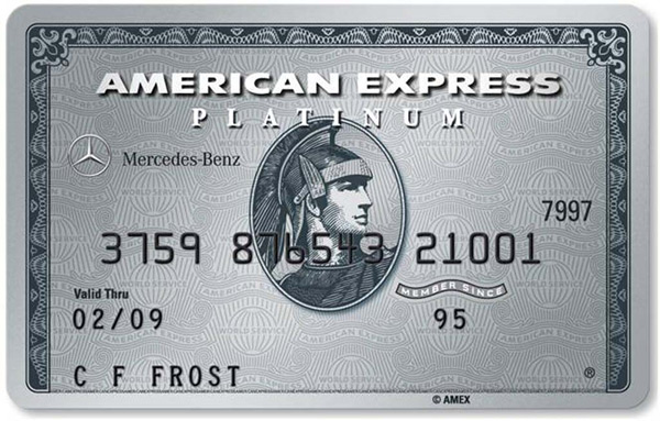 Platinum Card from American Express Exclusively for Mercedes-Benz