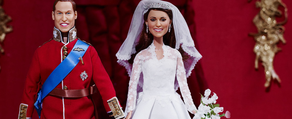 Prince William And Kate Over-sized Heads Wedding Dolls