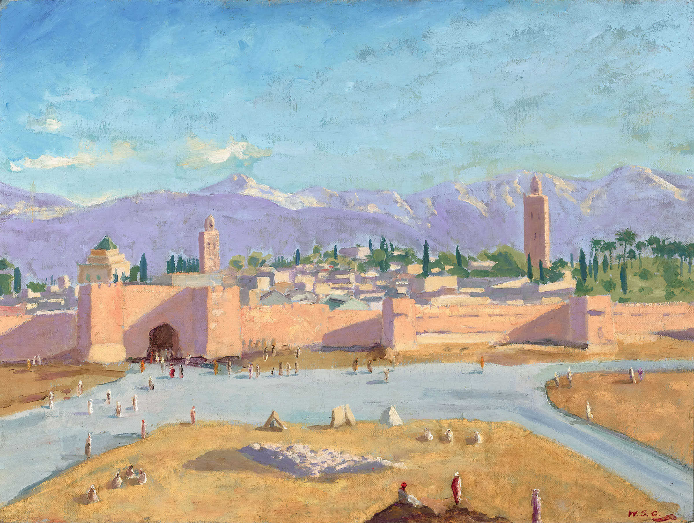 The Tower of Katoubia Mosque by Winston Churchill for Sale