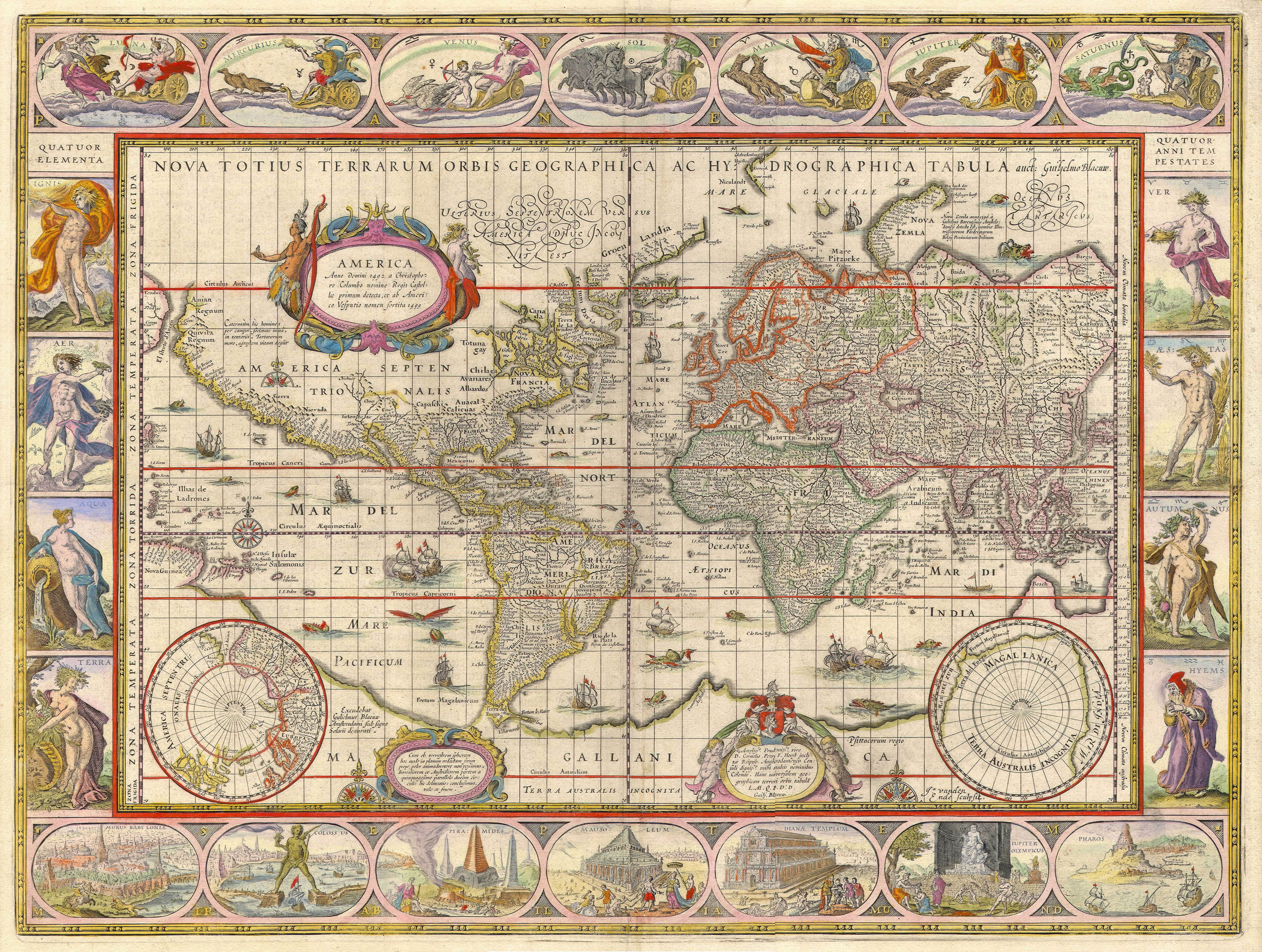 Blaeu World Map.1635 World Map By Willem Blaeu Expected To Fetch 20 000 Extravaganzi