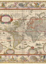 1635 World Map by Willem Blaeu Expected to Fetch $20,000