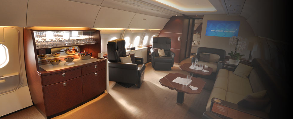 Airbus ACJ318 Corporate Jet Cabin