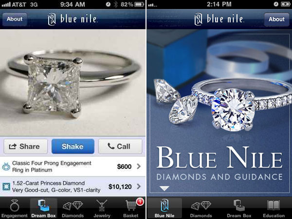 Blue Nile Inc Sold $300 000 Diamond Engagement Ring Via iPhone app eXtravag