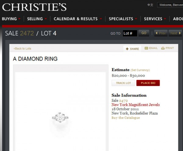 Crystal Harris Puts Hugh Hefner's Engagement Ring On Auction Block