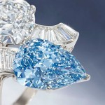 Diamond and Blue Diamond Crossover Ring made by Bulgari Fetches £1.9 Million