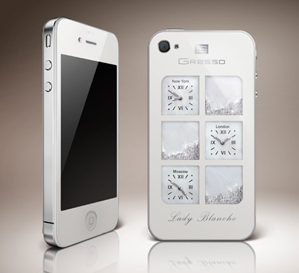 Gresso ArtPhone Lady Blanche with Diamonds and Swarovski Crystals