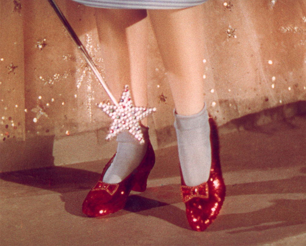 dorothys red shoes from wizard of oz