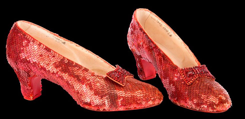 Judy Garland's Wizard of Oz Ruby Red Slippers to go Under the Hammer