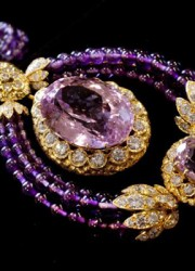 Part of a Suite of Kunzite, amethyst and diamond Triphanes jewelry by Van Cleef & Arpels, from Elizabeth Taylor estate