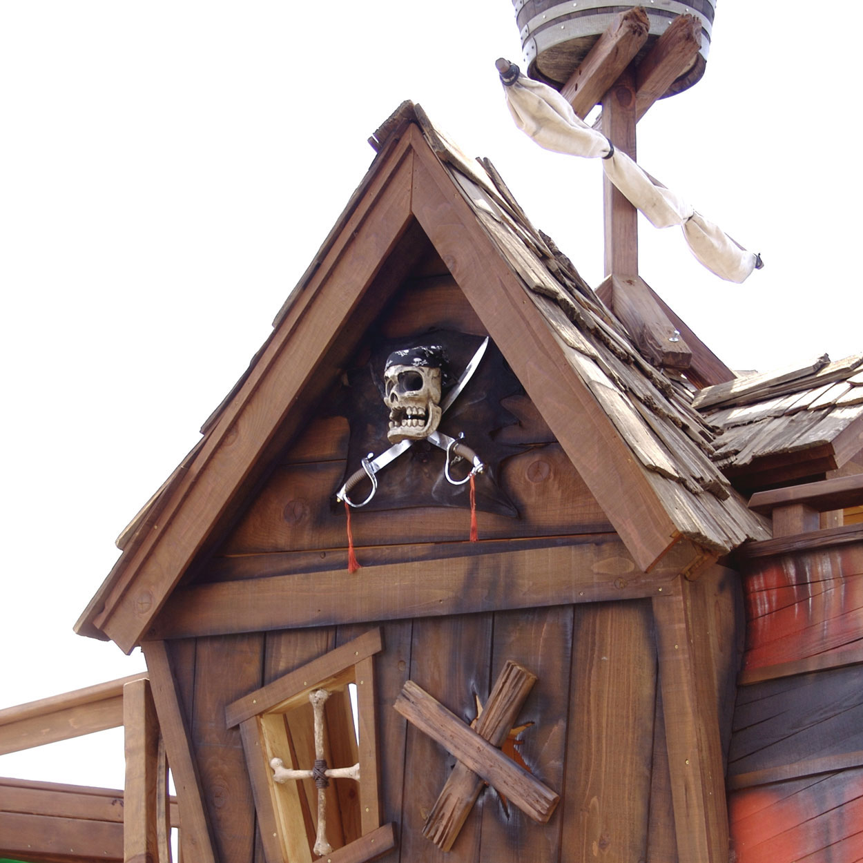 Pirate ship tree playhouse by daniels wood land extravaganzi - Wooden pirate ship playhouse ...