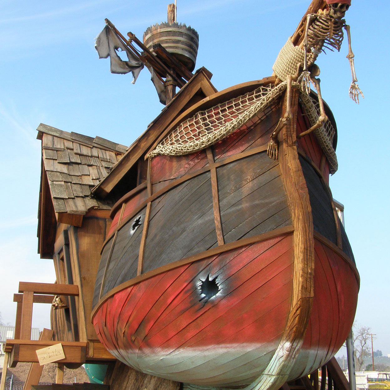 Outdoor Playhouse And Pirate Ship 84