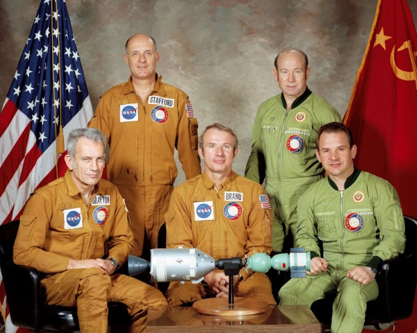 Portrait of Apollo/Soyuz crews
