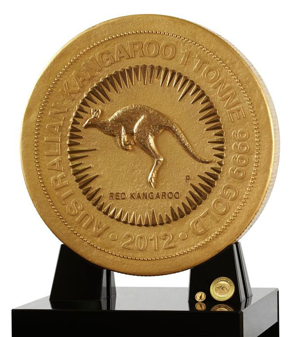 World's Largest and Most Valuable Gold Coin - 1 Tonne Gold Kangaroo Coin