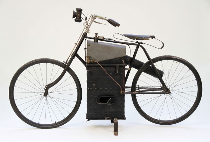 an introduction to the origins and the history of motorcycles a steam powered bicycle History of mtorcycles motorcycles were made for personal transportationthe first motorcycle made with steam engines which was given little support then gottlieb daimler invented the first gas-engined motorcycle in 1885.